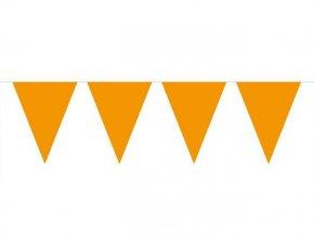 Vlajková girlanda oranžová 6m