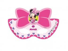 Škraboška - maska Minnie 6ks v balení