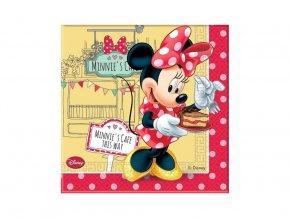 servítky Minnie Mouse cafe 20ks v balení