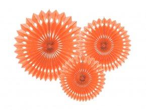 Rozety oranžové 3ks v balení