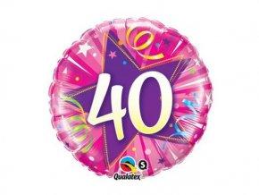 Balón ružový 40 46cm