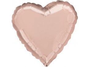 balón jumbo srdce  rose gold 80x85 cm