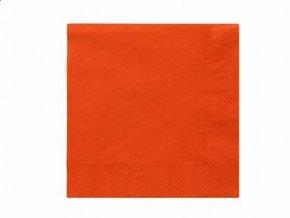 Servitky oranžové 33cm, 20ks v balení