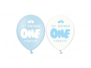 eng pl 1st Birthday One Party Balloon 30 cm 5 pcs 31625 1