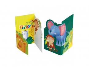 eng pl Safari Invitation 6 pcs 31447 2