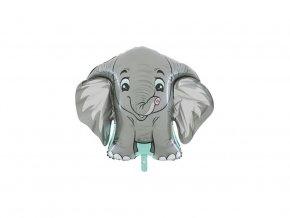 eng pl Foil Balloon Elephant 96 x 68 cm 45137 1