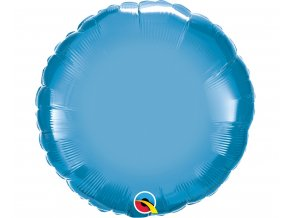 balon foliowy 18 cali ql rnd chrom niebieski