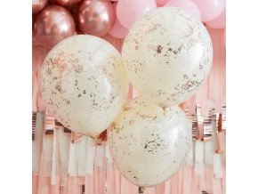 mix 458 cream double stuffed balloons filled with gold confetti min