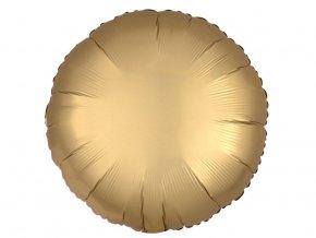eng pl Gold Round Foil Balloon 43 cm 1 pcs 32270 1
