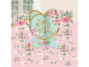 Dekorácia na stôl From Miss to Mrs 27ks v balení