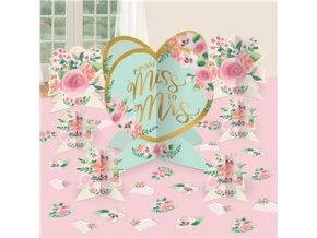 Dekorácia na stôl from miss to mrs