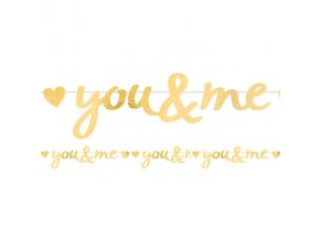 banner you & me 91cm