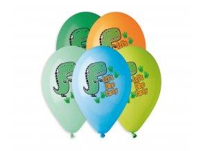 balony premium hel let s dino party 13 cali 5 sz
