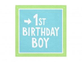 eng pl 1st birthday boy 3 layers blue napkins 33 cm 20 pcs 31374 1