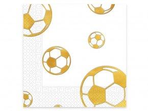 eng pl Lunch napkins Football Gold 33 cm 20 pcs 31843 2