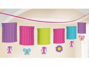 eng pl Lattern garland Birthday Girl Butterfly 3 65m 15601 2