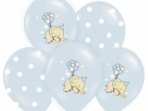 eng pl Balloons 14 Elephant and dots mix blue 5 pcs 6499 1