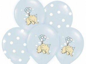 eng pl Balloons 14 Elephant and dots mix blue 5 pcs 6499 1
