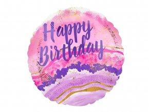 eng pl Standard Happy Birthday Foil Balloon 47531 2