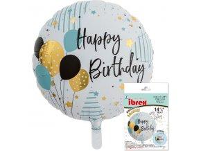 Balón Happy BIrthday 45cm