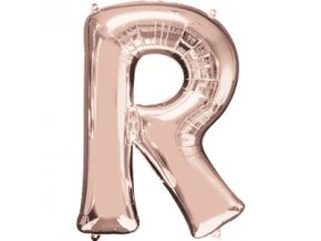 Balón písmeno R rose gold 58x81cm