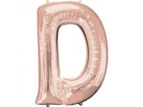 Fóliový balón písmeno ,,D,, rose gold 60x83cm