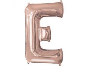 Fóliový balón pímeno ,,E,, rose gold 53x81cm