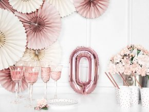 eng pl Letter O Rose Gold Foil Balloon 35 cm 1 pc 34453 4