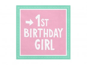 eng pl 1st birthday girl 3 layers pink napkins 33 cm 20 pcs 31373 2