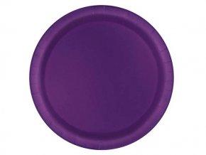 eng pl Deep Purple Paper Plates 18 cm 8 pcs 25402 2