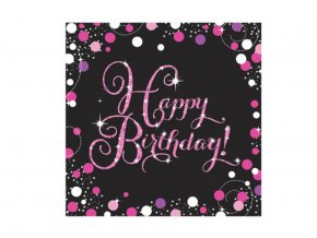 eng pl Pink Celebration Luncheon Napkins 33cm 16 pcs 33962 2