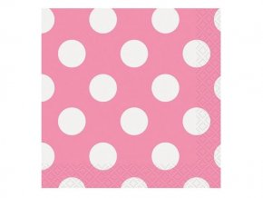 eng pl Pink Napkins with Dots 33 cm 16 pcs 25241 2