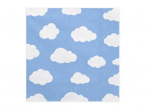 eng pl Lunch napkins with clouds 33 cm 20 pcs 33560 2