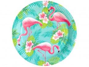 eng pl Paper plates Flamingo 23 cm 8 pcs 33449 1