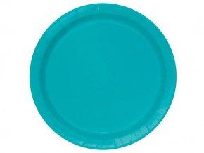 eng pl Caribbean Teal Paper Plates 18 cm 8 pcs 25669 1