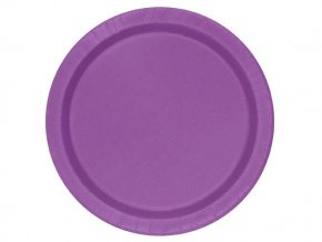eng pl Pretty Purple Paper Plates 18 cm 8 pcs 25588 1