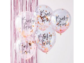 tw 801 baby girl pink confetti balloons 1