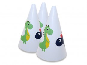 eng pl Happy Dinosaurs Party Hats 6 pcs 44721 1