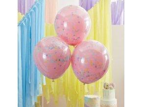 mix 342 pink double stuffed confetti balloons min