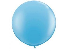 Jumbo latexový balón Bledo modrý 1m