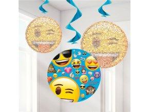 Špirály Emoji smajlík 3ks