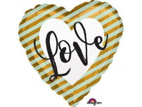 Balón LOVE srdce 43cm