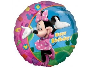 balon foliowy 18 cir minnie happy birthday