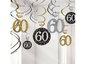 Špirálky 60 happy Birthday 12ks