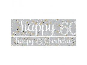 Banner 60Happy Birthday 1ks