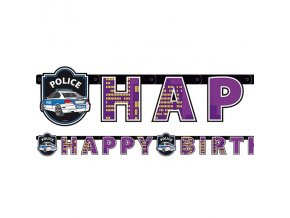 Banner Happy Birthday policia