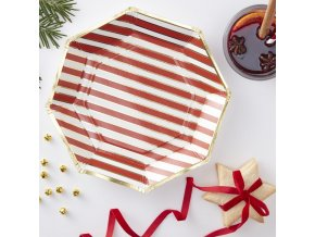 rg 334 candy cane striped paper plate min