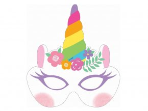 eng pl Rainbow Unicorn Masks 6 pcs 32559 2