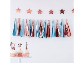 tw 810 blue rose gold tassel garland