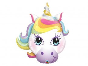 eng pl SuperShape Rainbow Unicorn Foil Balloon 97 cm 1 pc 33915 2
